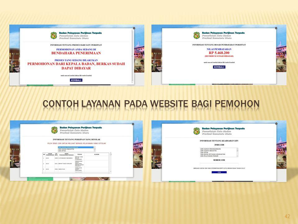 CONTOH LAYANAN PADA WEBSITE BAGI PEMOHON