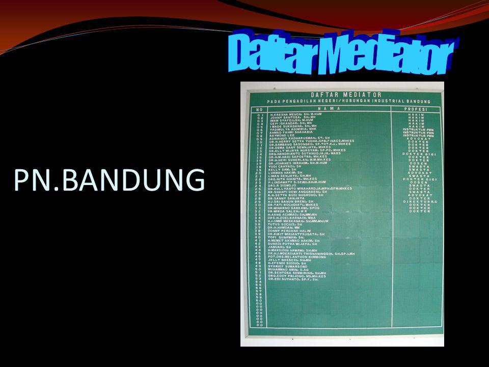 Daftar Mediator PN.BANDUNG