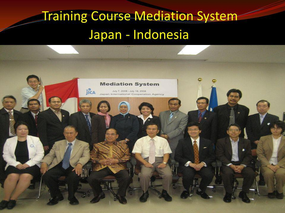 Training Course Mediation System Japan - Indonesia