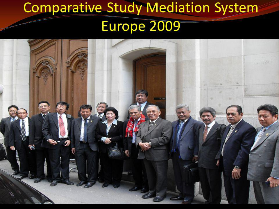 Comparative Study Mediation System Europe 2009