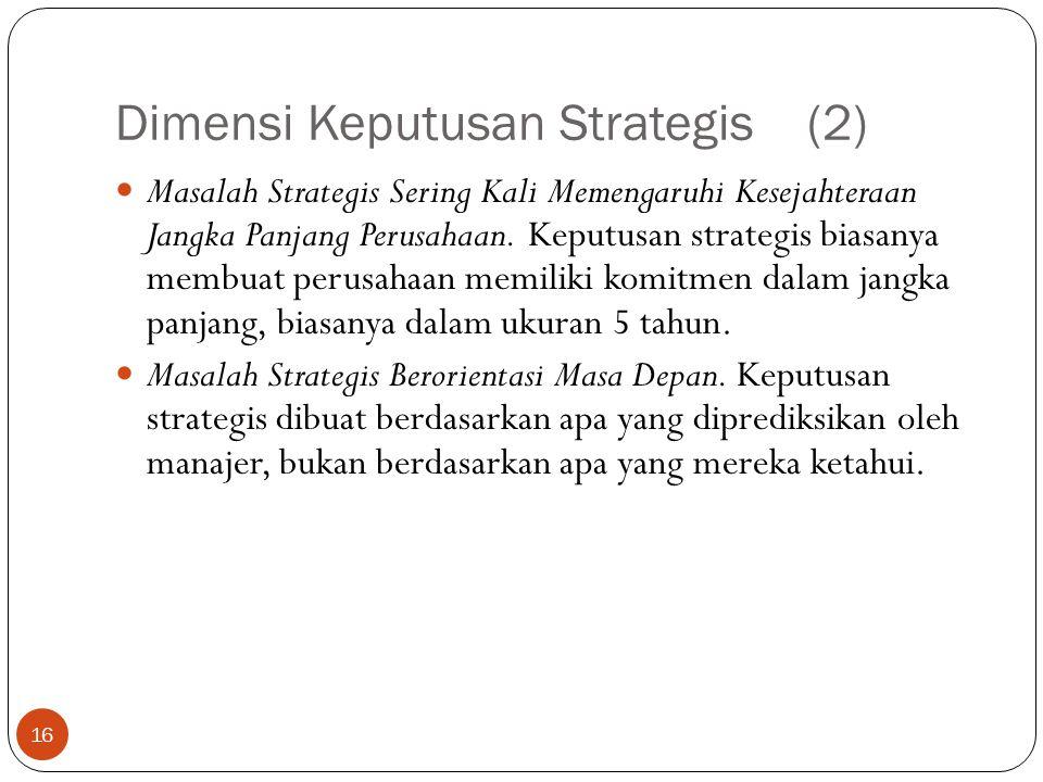 Dimensi Keputusan Strategis (2)