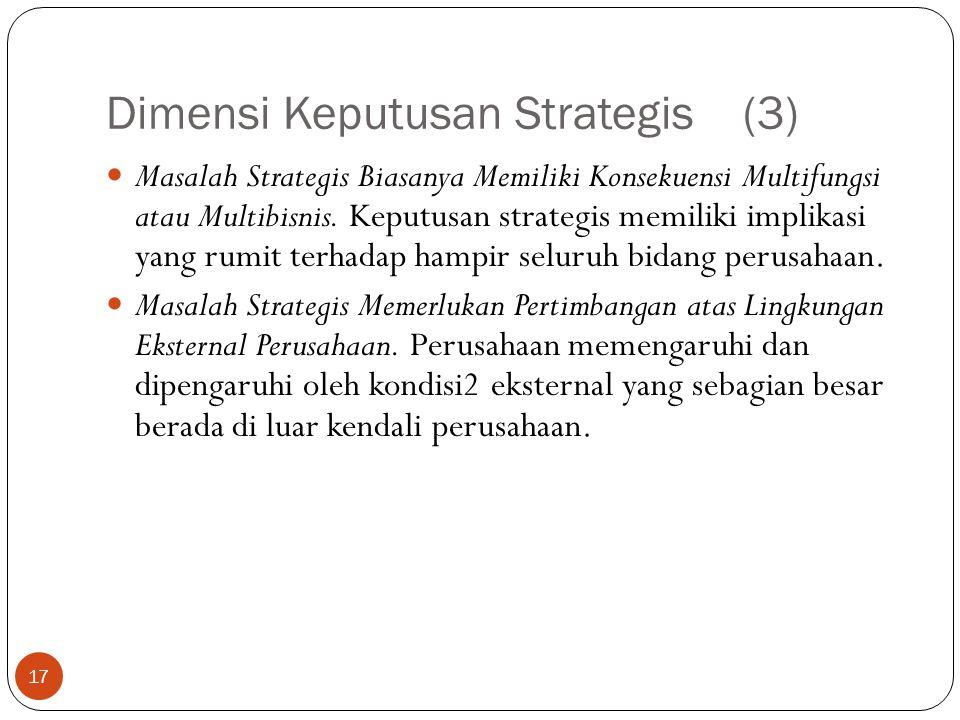 Dimensi Keputusan Strategis (3)