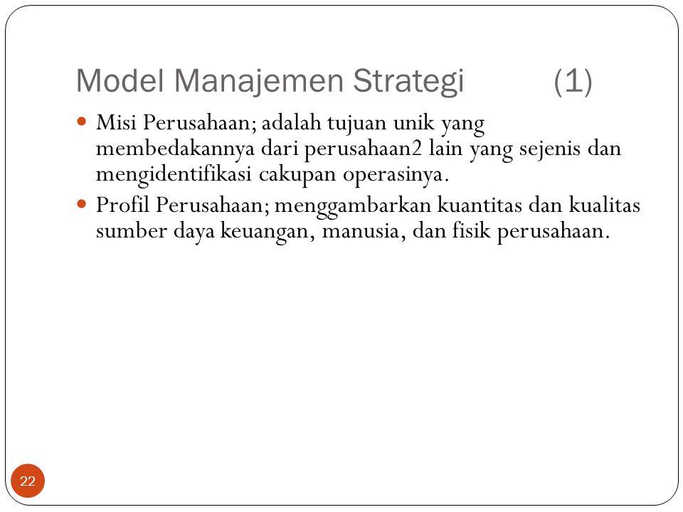 Model Manajemen Strategi (1)