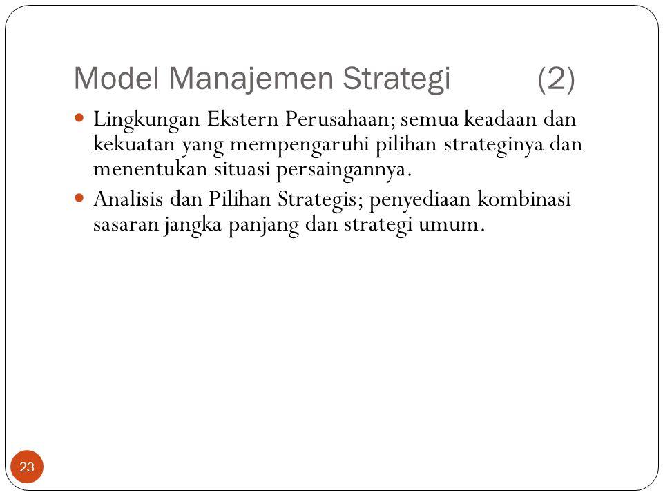 Model Manajemen Strategi (2)