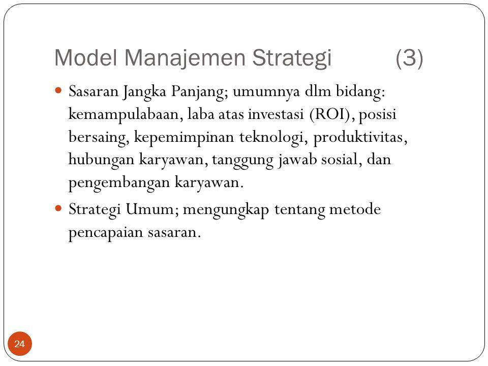 Model Manajemen Strategi (3)