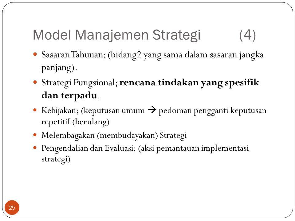 Model Manajemen Strategi (4)