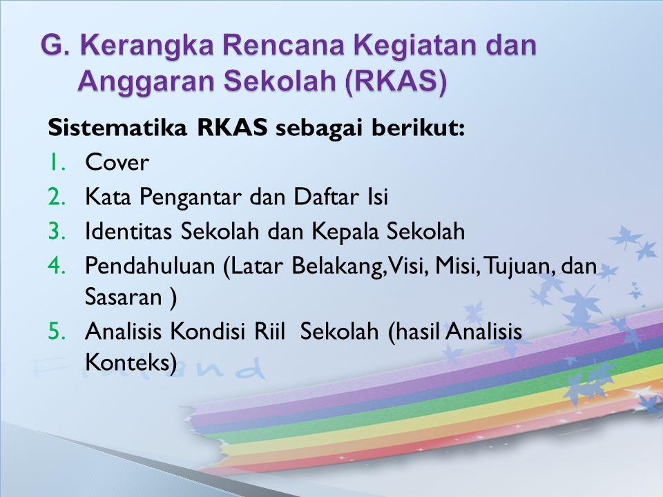 G. Kerangka Rencana Kegiatan dan Anggaran Sekolah (RKAS)