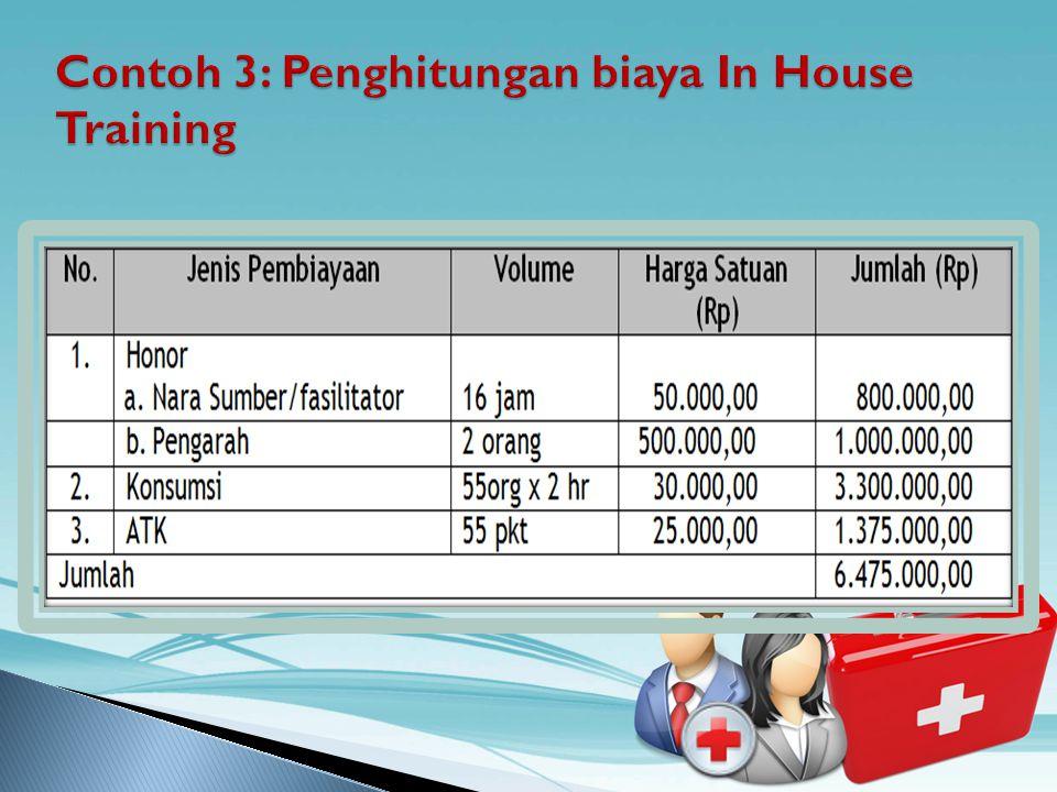 Contoh 3: Penghitungan biaya In House Training