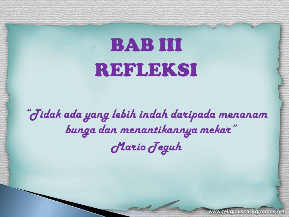 BAB III REFLEKSI.