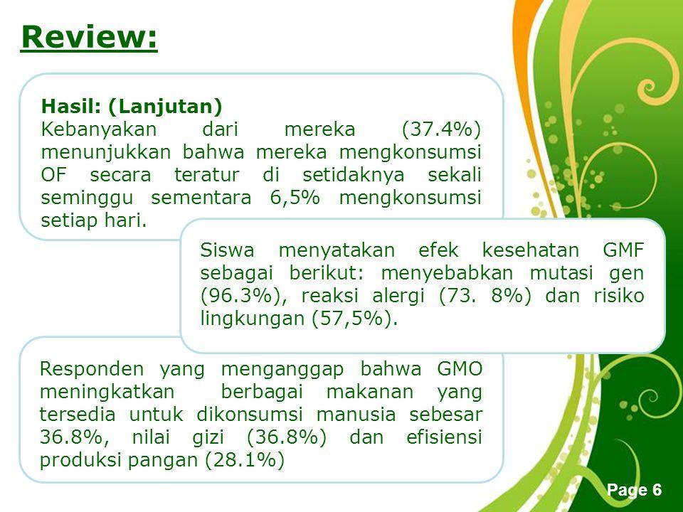 Review: Hasil: (Lanjutan)
