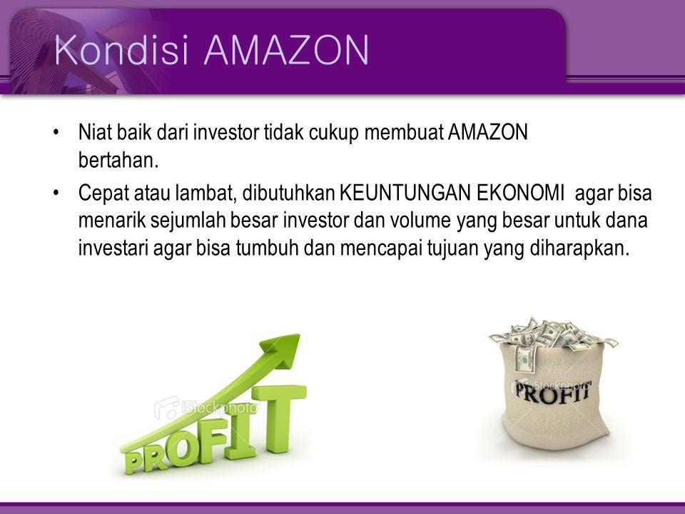 Kondisi AMAZON Niat baik dari investor tidak cukup membuat AMAZON bertahan.