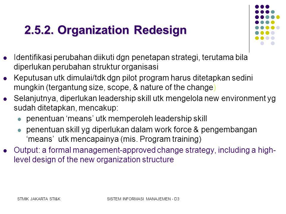 2.5.2. Organization Redesign