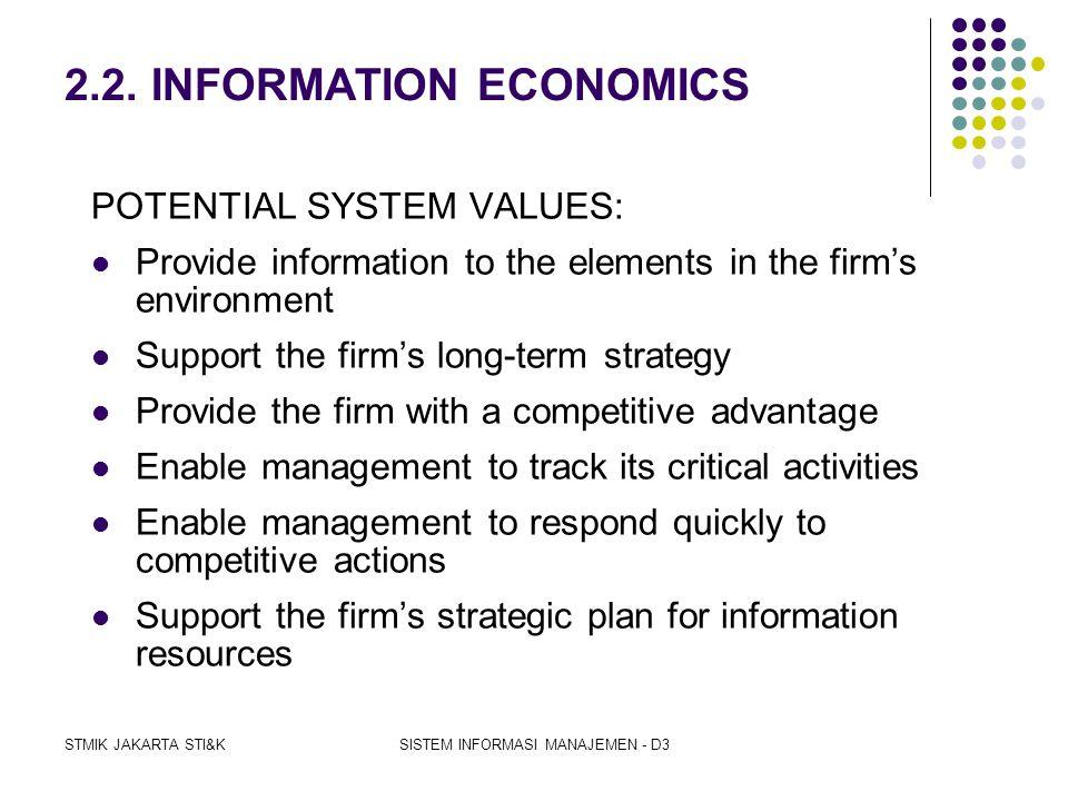 2.2. INFORMATION ECONOMICS