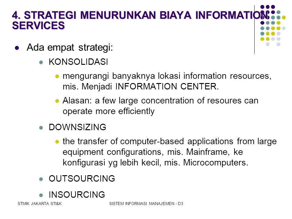 4. STRATEGI MENURUNKAN BIAYA INFORMATION SERVICES
