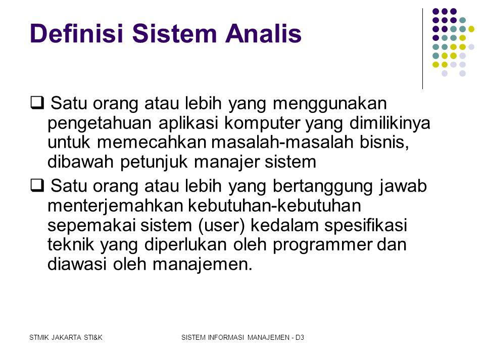 Definisi Sistem Analis