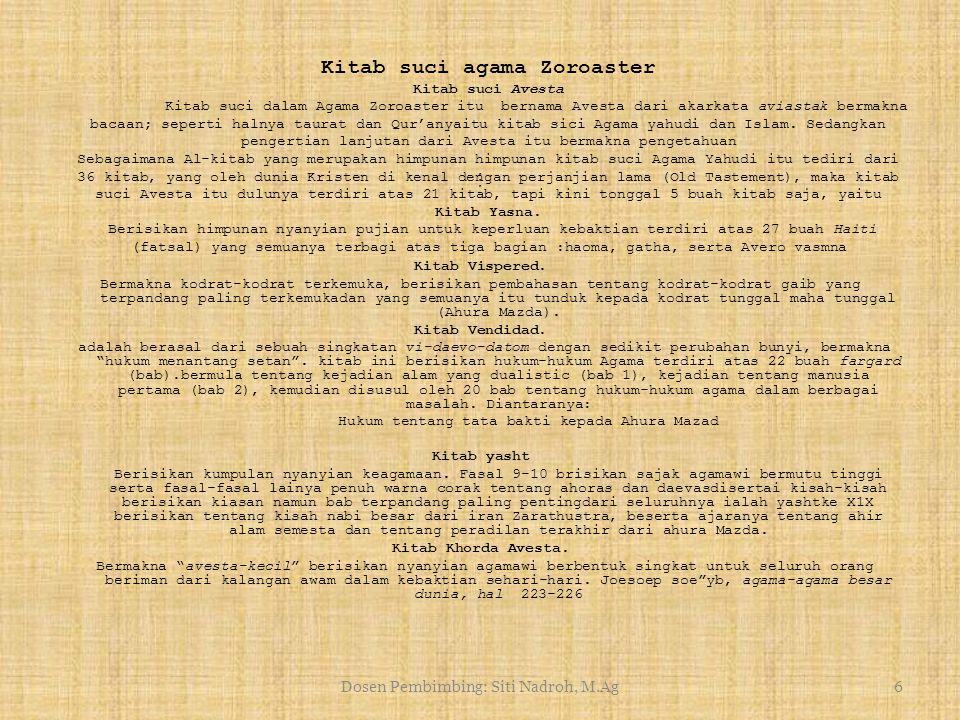 Kitab suci agama Zoroaster Kitab suci Avesta