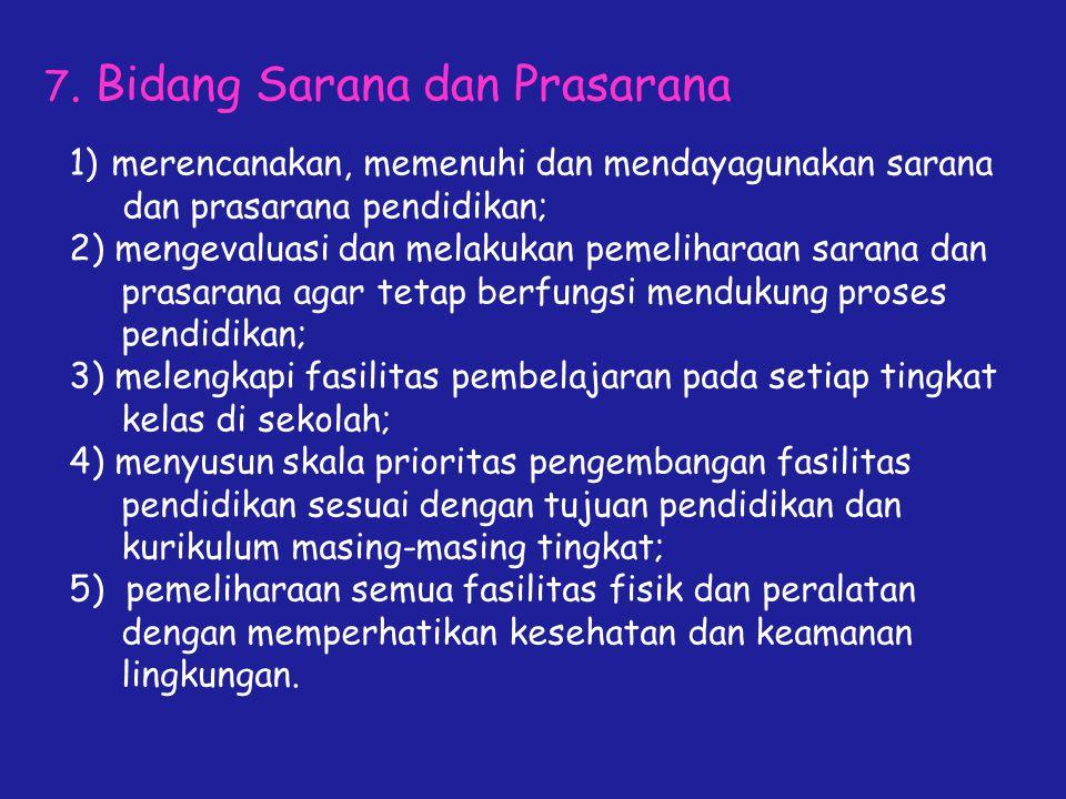 7. Bidang Sarana dan Prasarana
