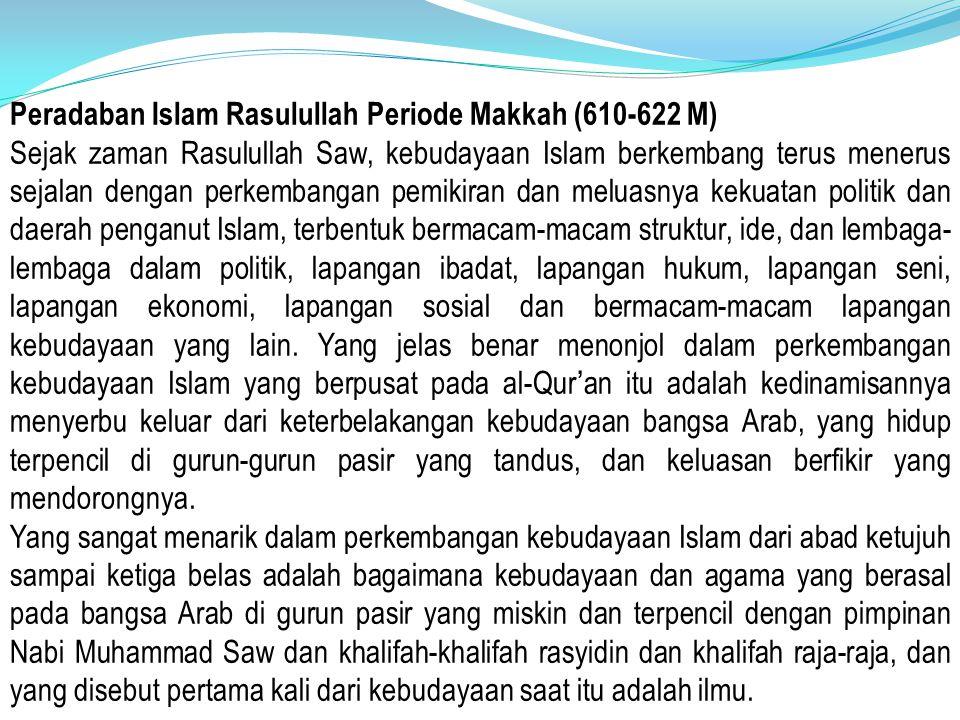Peradaban Islam Rasulullah Periode Makkah (610-622 M)