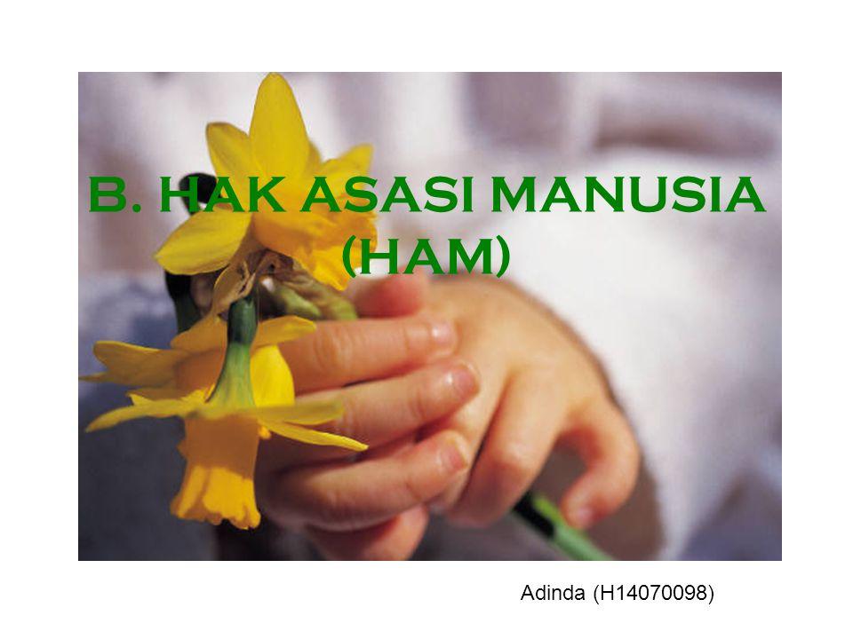 B. HAK ASASI MANUSIA (HAM)