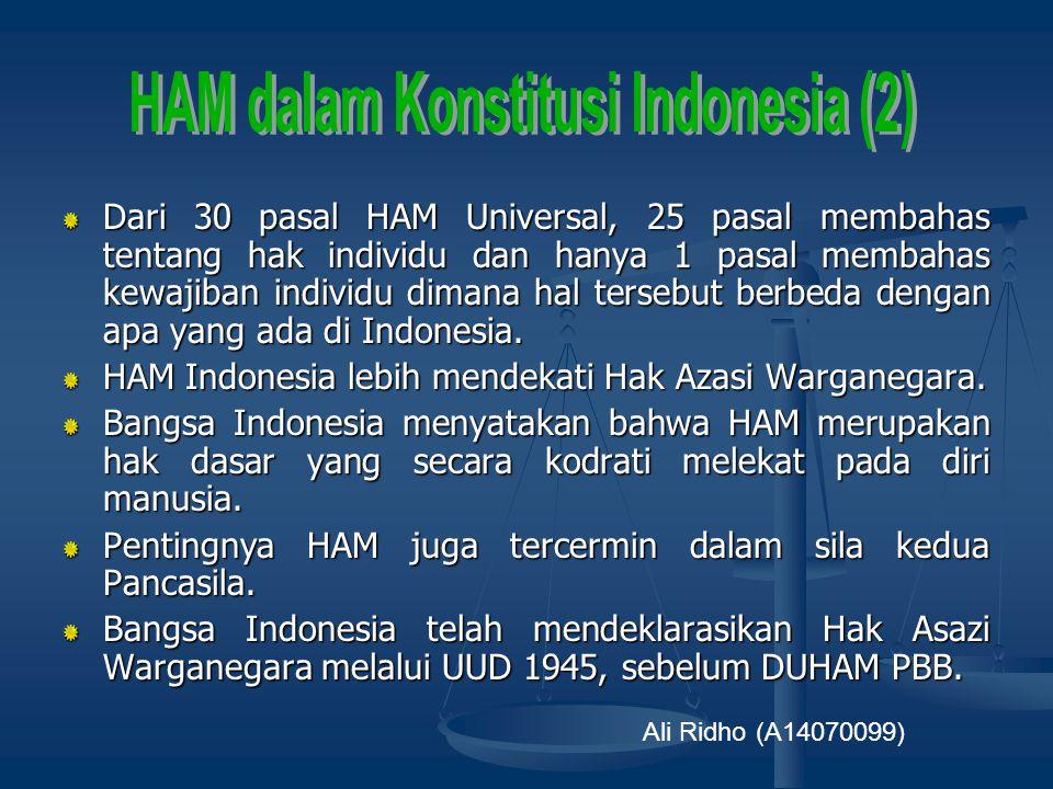 HAM dalam Konstitusi Indonesia (2)