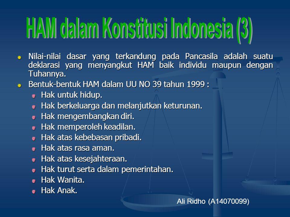 HAM dalam Konstitusi Indonesia (3)