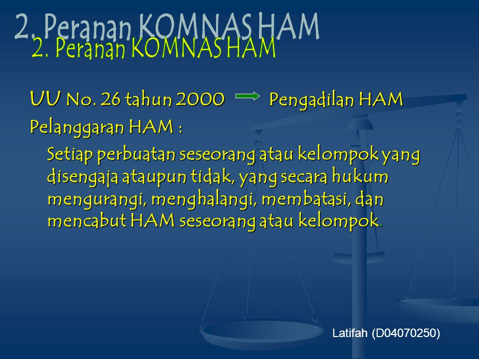 UU No. 26 tahun 2000 Pengadilan HAM