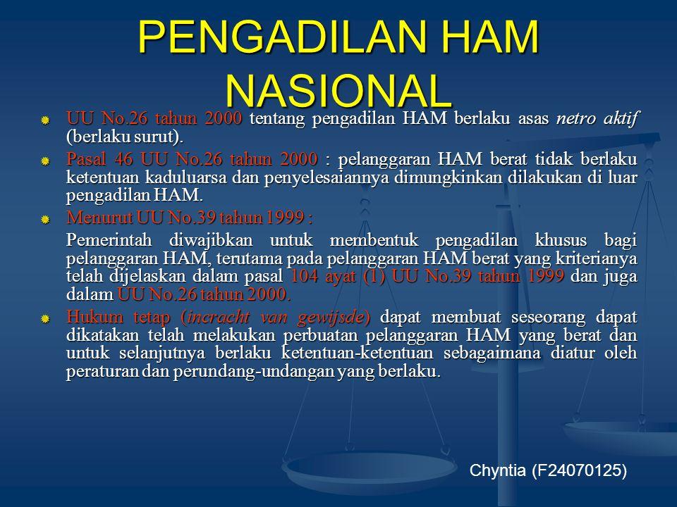 PENGADILAN HAM NASIONAL