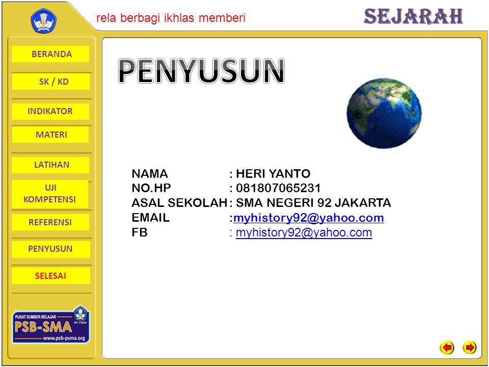 PENYUSUN NAMA : HERI YANTO NO.HP : 081807065231