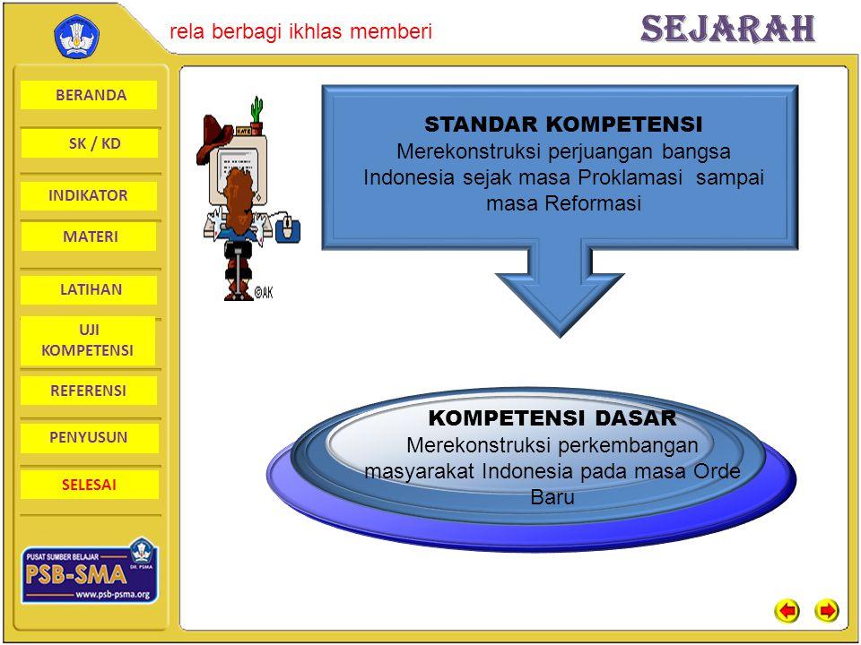 Merekonstruksi perkembangan masyarakat Indonesia pada masa Orde Baru