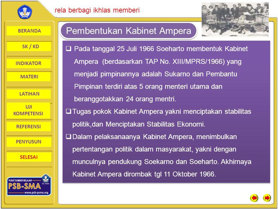 Pembentukan Kabinet Ampera