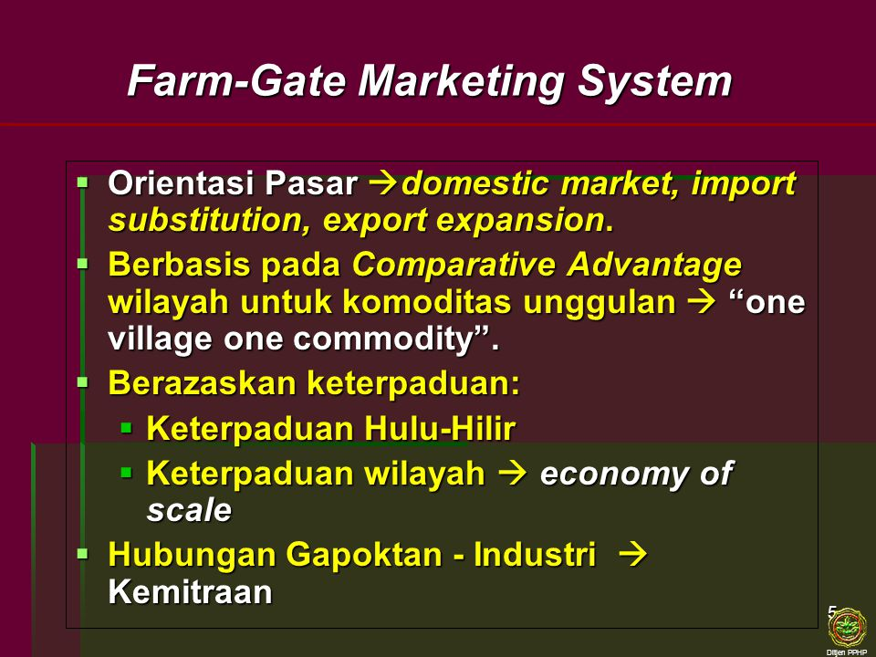 Farm-Gate Marketing System