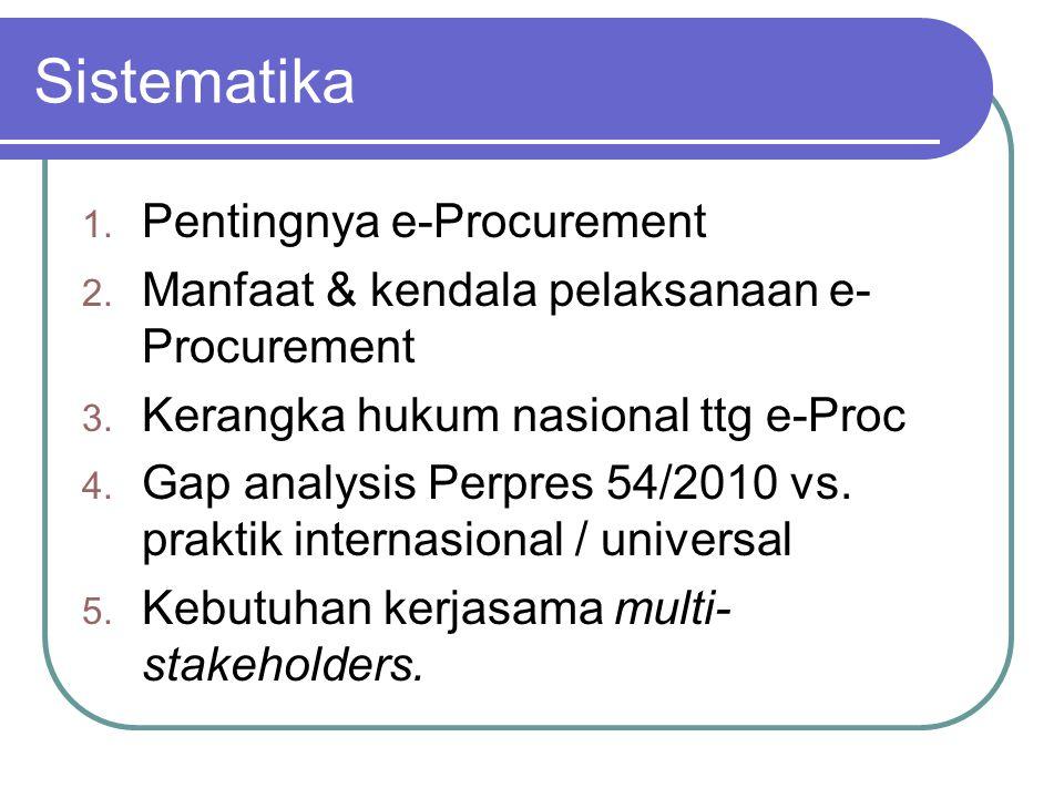 Sistematika Pentingnya e-Procurement