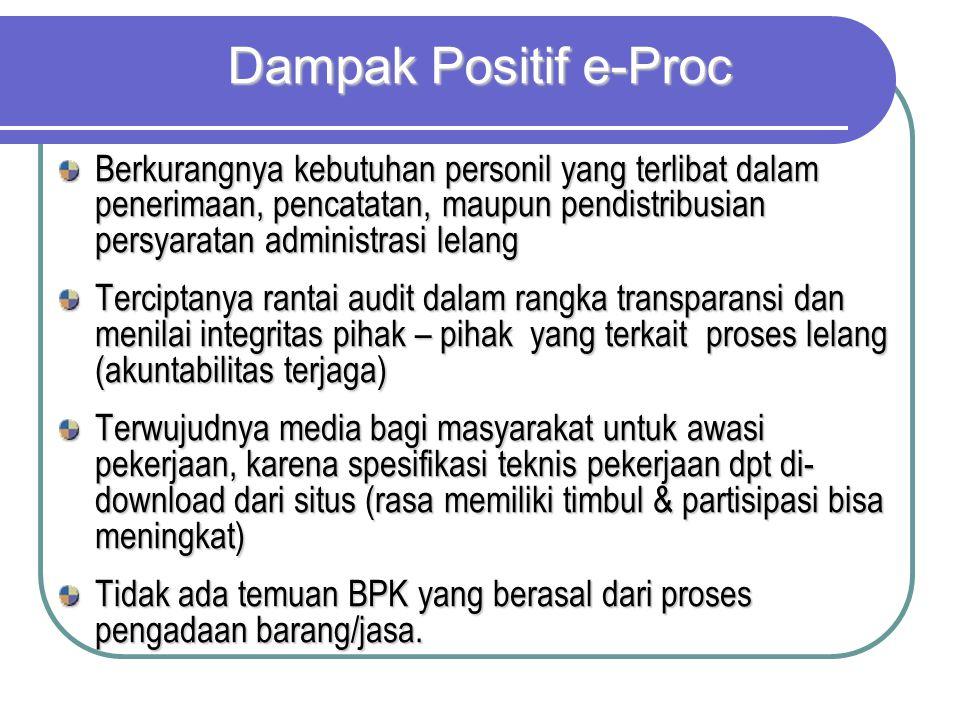 Dampak Positif e-Proc