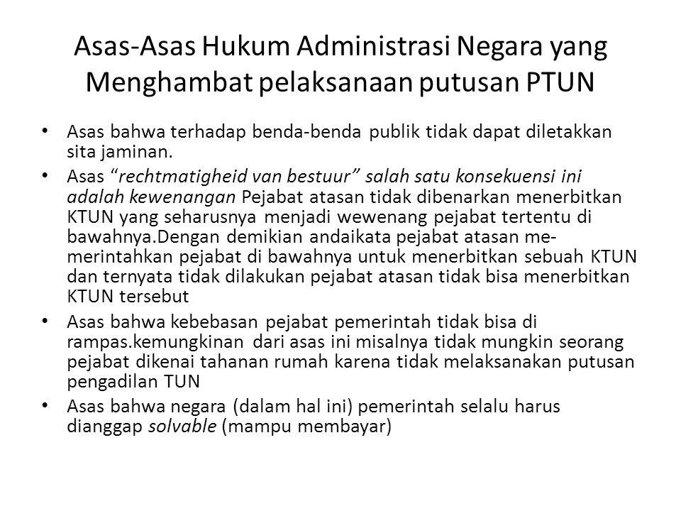 Asas-Asas Hukum Administrasi Negara yang Menghambat pelaksanaan putusan PTUN