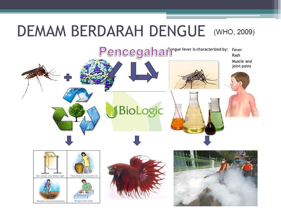 DEMAM BERDARAH DENGUE (WHO, 2009) Pencegahan