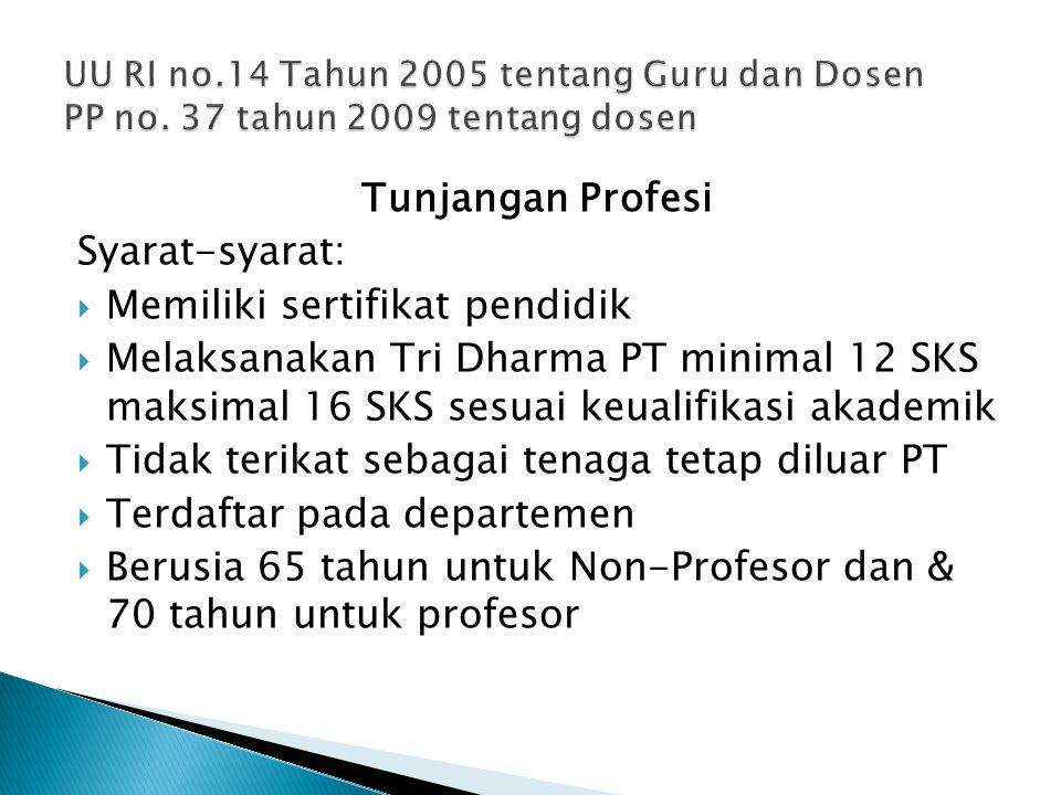 Memiliki sertifikat pendidik