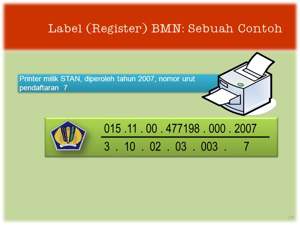Label (Register) BMN: Sebuah Contoh