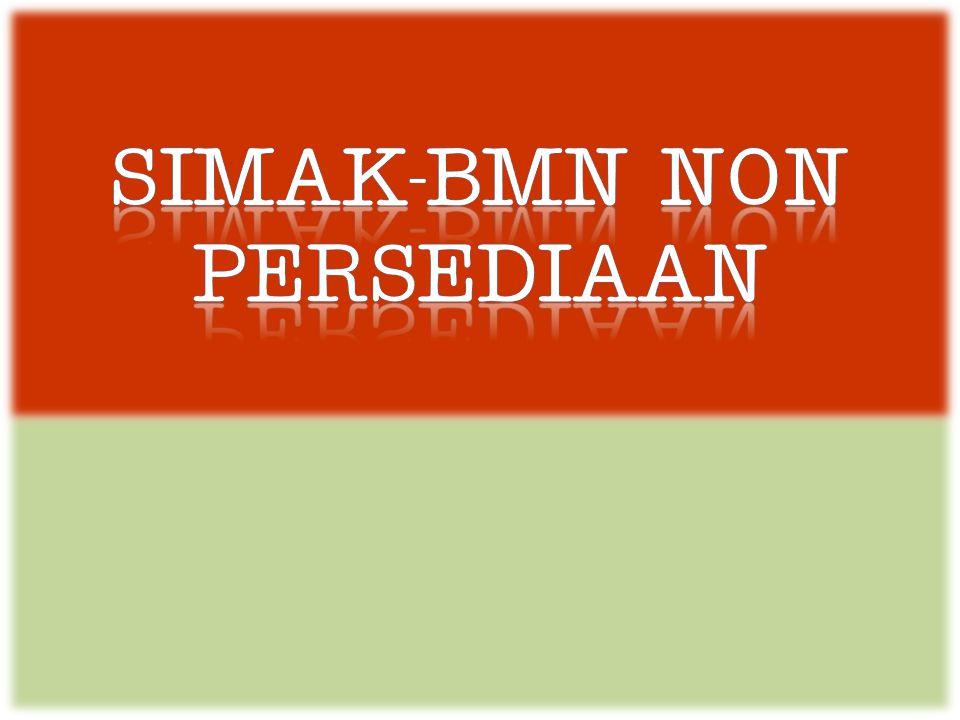 SIMAK-BMN NON PERSEDIAAN