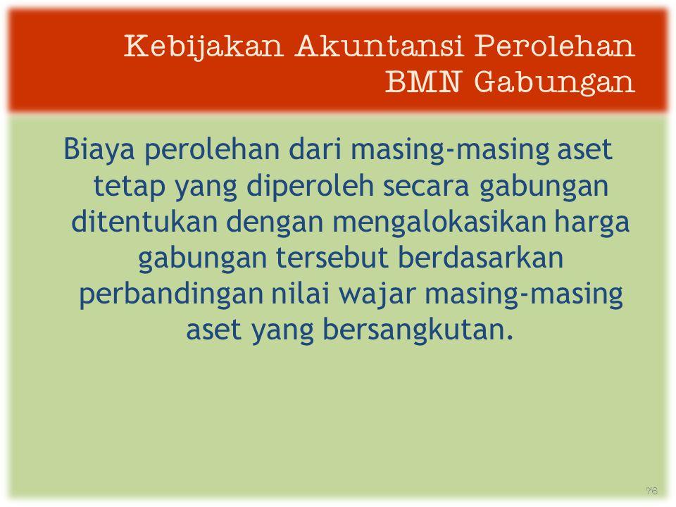 Kebijakan Akuntansi Perolehan BMN Gabungan