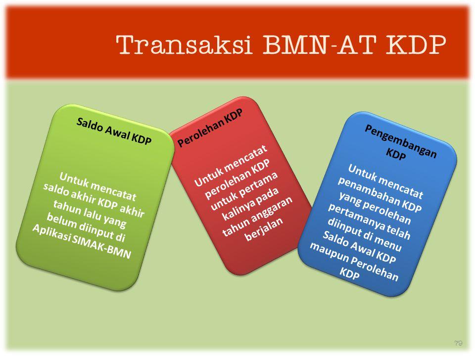 Transaksi BMN-AT KDP Perolehan KDP