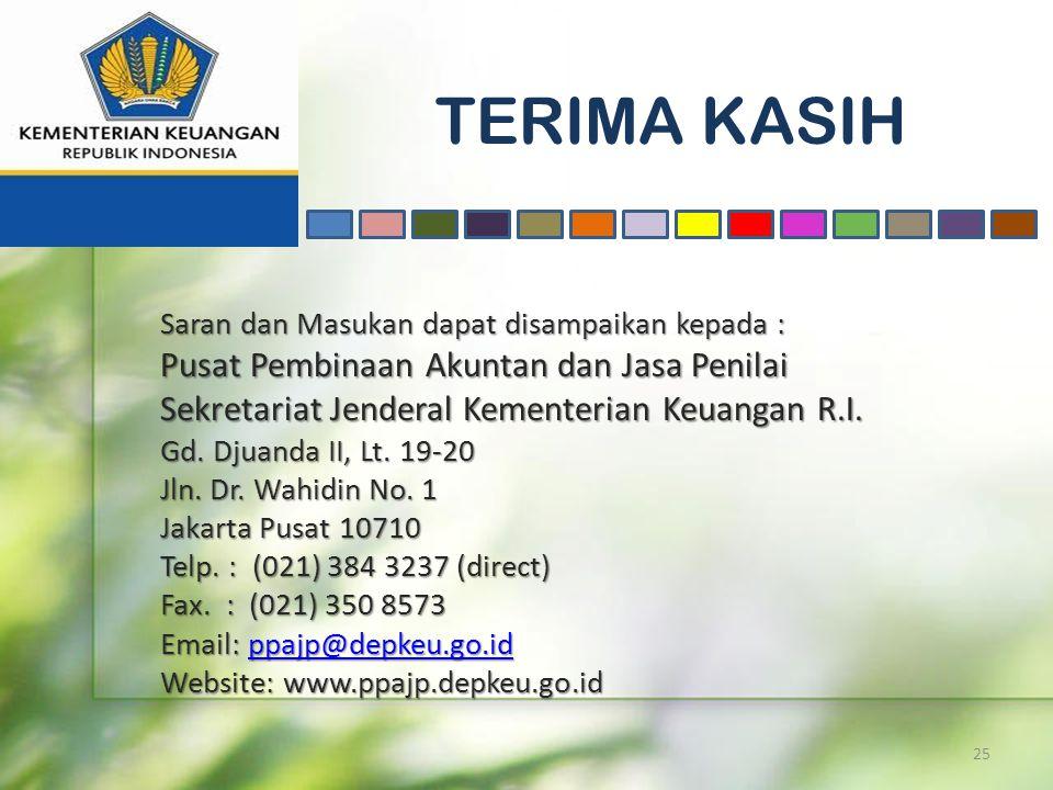 TERIMA KASIH Pusat Pembinaan Akuntan dan Jasa Penilai