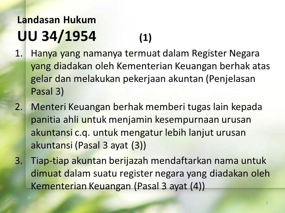 Landasan Hukum UU 34/1954 (1)