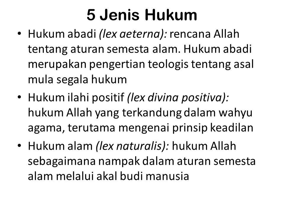 5 Jenis Hukum