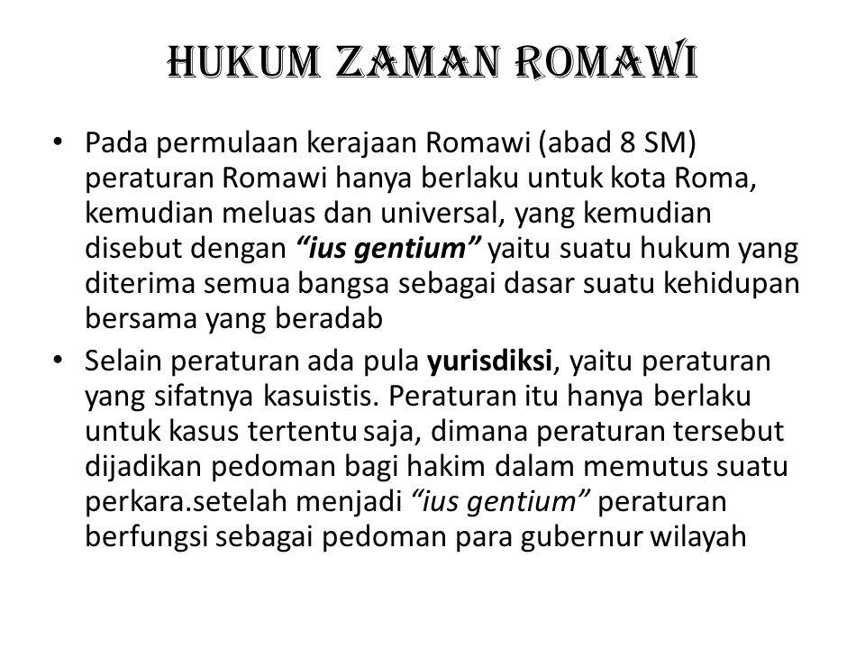 Hukum Zaman Romawi