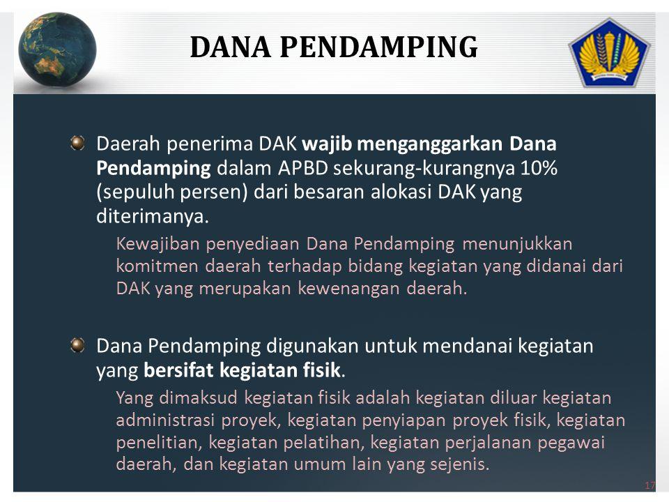 DANA PENDAMPING