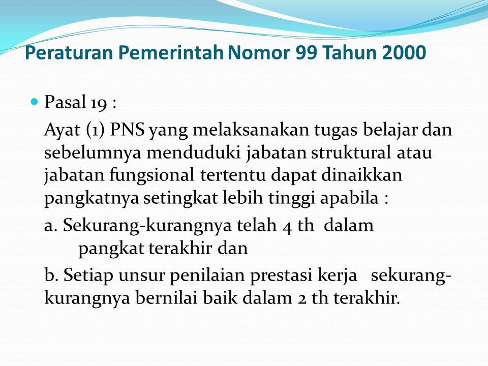 Peraturan Pemerintah Nomor 99 Tahun 2000