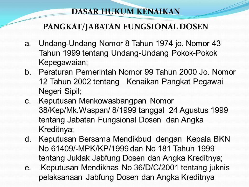 PANGKAT/JABATAN FUNGSIONAL DOSEN
