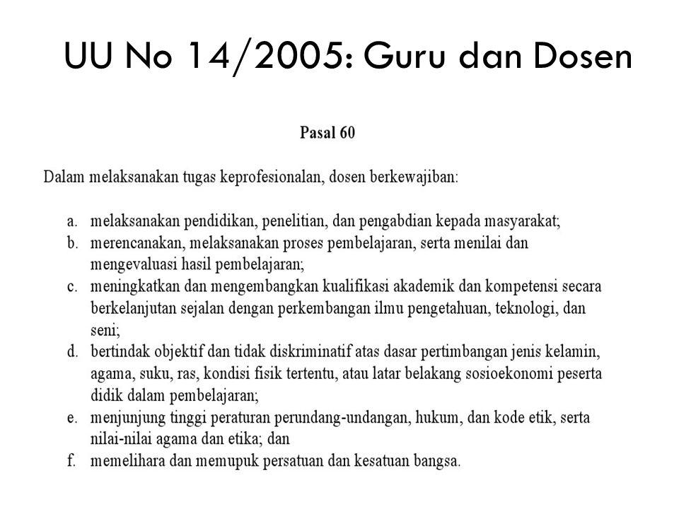 UU No 14/2005: Guru dan Dosen
