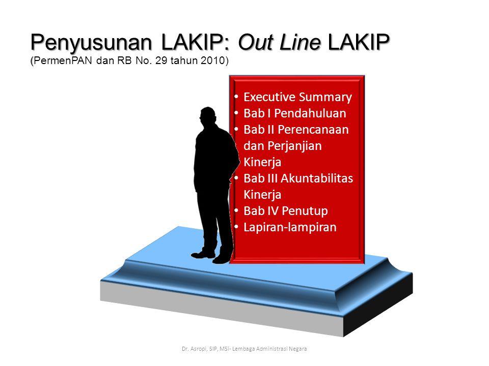 Penyusunan LAKIP: Out Line LAKIP (PermenPAN dan RB No. 29 tahun 2010)
