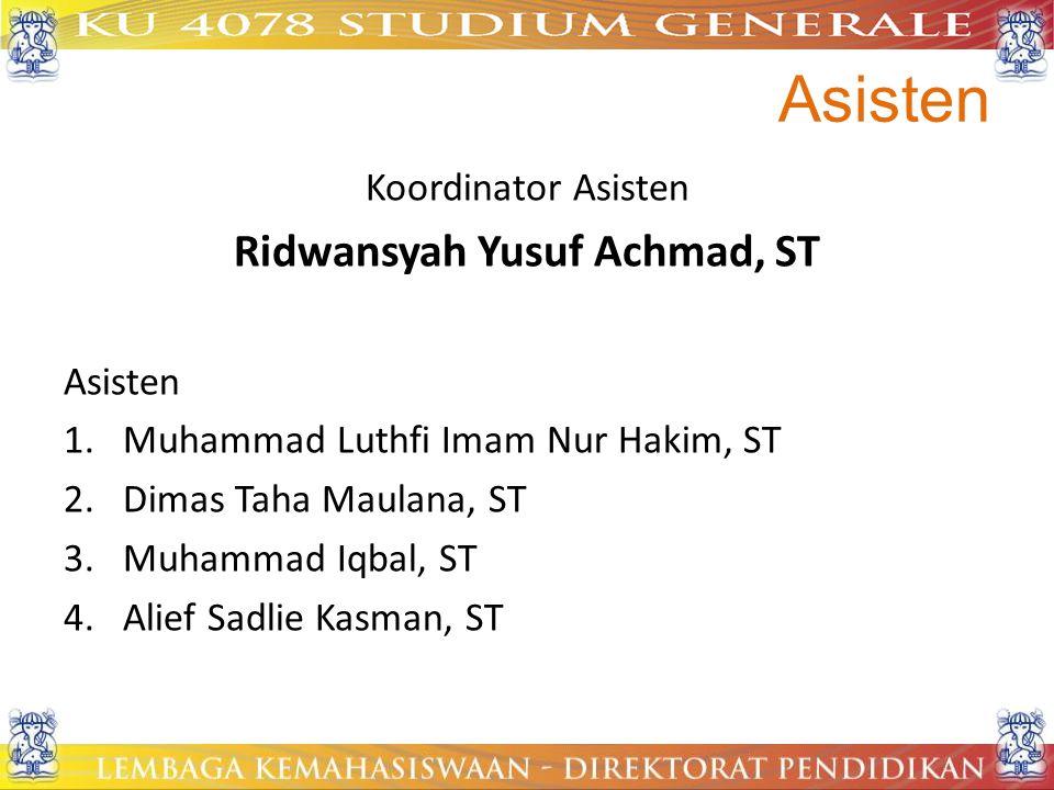 Ridwansyah Yusuf Achmad, ST